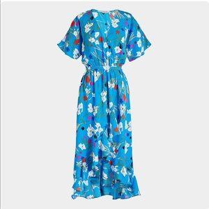 J crew floral high low faux wrap dress xs